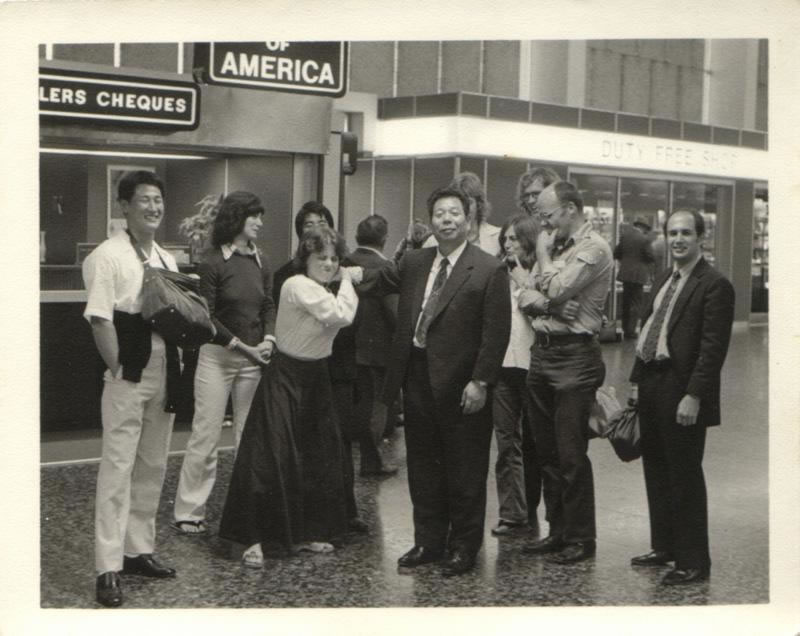 Saito Sensei with senior students: Shigemi Inagaki, Bill Witt and David Alexander (USA 1974)