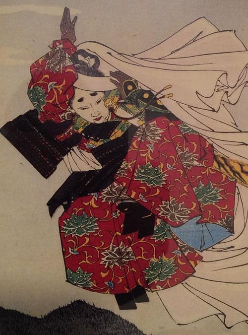 Yoshitsune-raising-arm-by-Yoshitoshi-500x675